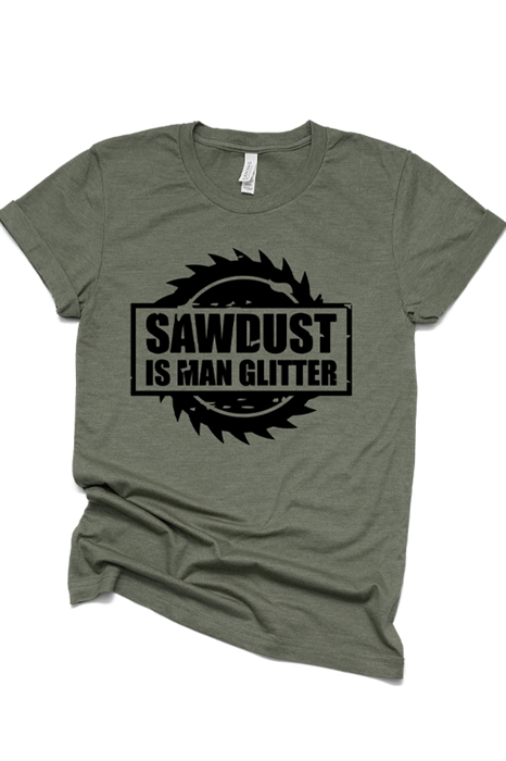 Picture of Man Glitter Graphic Tee