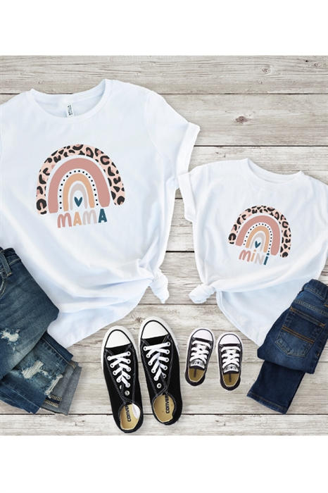 Picture of Mama + Mini Rainbow Graphic Tees
