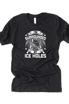 Picture of Surrounded By Ice Holes Graphic Tee