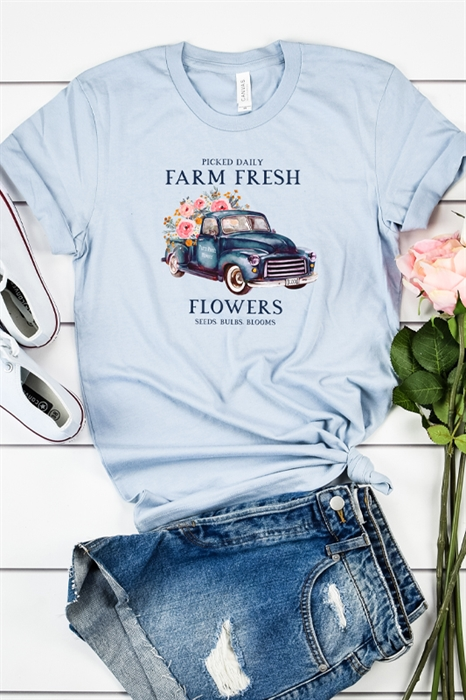 Picture of Farm Fresh Flowers Graphic Tee