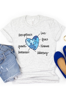 Picture of Autism Puzzle Heart Graphic Tee