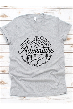 Picture of Explore More V-Neck Graphic Tee
