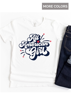 Picture of All American Girl Graphic Tee