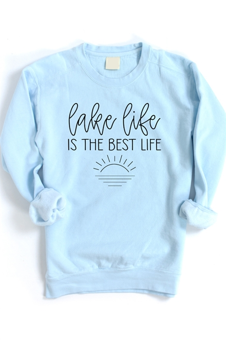 Picture of Lake Life Is The Best Life Graphic Sweatshirt