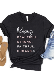 Picture of Raising Faithful Humans Graphic Tee by FBT