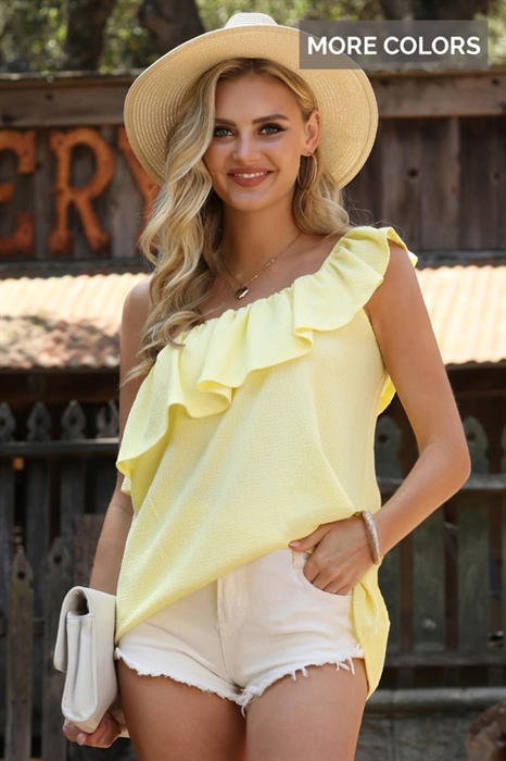 Picture of One Shoulder Ruffle Top 🇺🇸