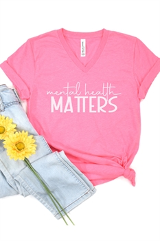 Picture of Mental Health Matters V-Neck Graphic Tee