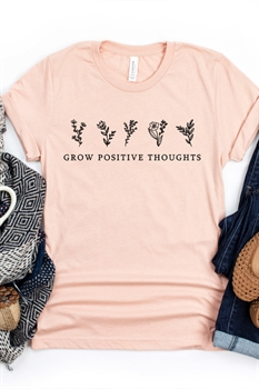 Picture of Grow Positive Thoughts Graphic Tee
