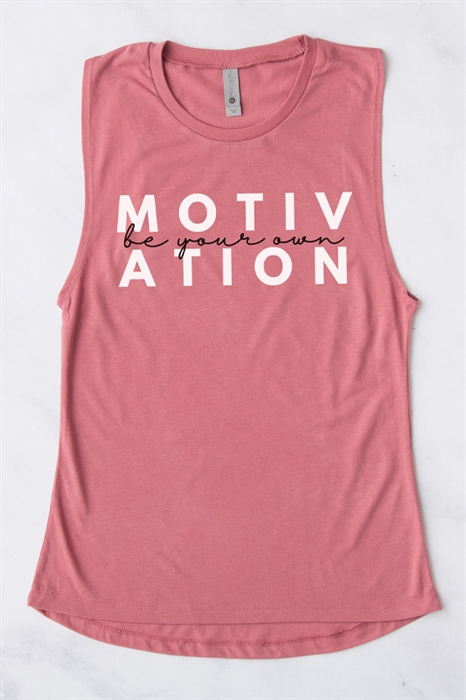 Picture of Be Your Own Motivation Graphic Muscle Tank