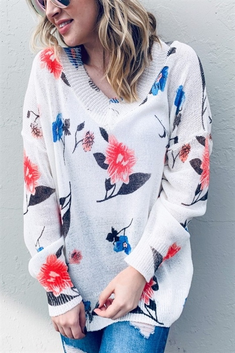 Picture of Lenora Floral Sweater