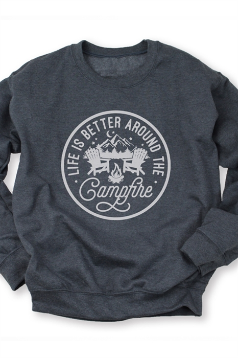 Picture of Life Is Better Around a Campfire Graphic Sweatshirt